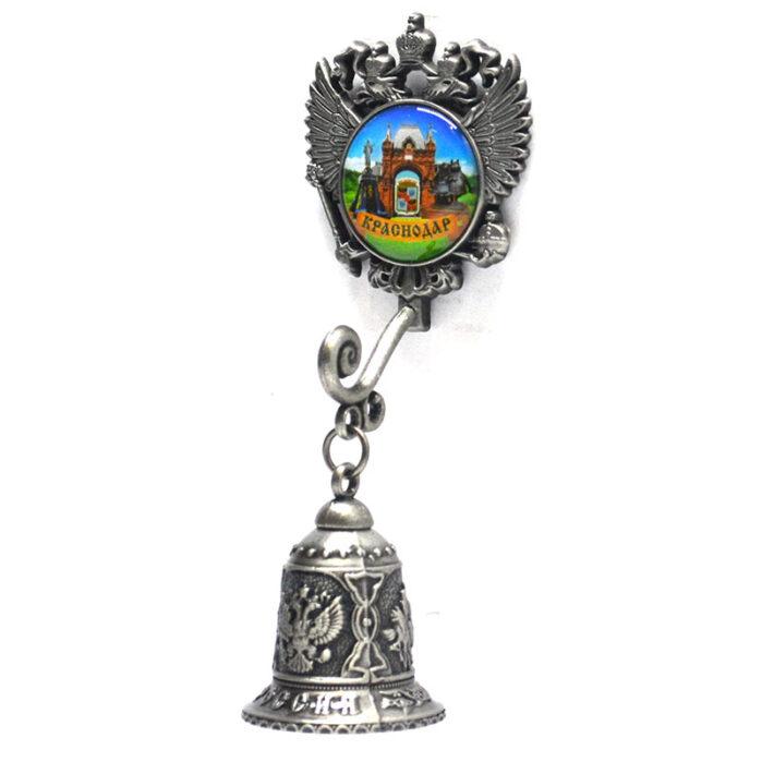 Колокольчик - магнит Екатерина святая, Триумфальнрая арка и Памятниу собачкам (серебро) 57338