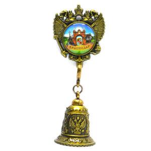 Колокольчик - магнит Екатерина святая, Триумфальнрая арка и Памятниу собачкам (бронза) 57339
