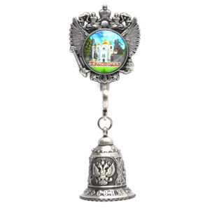Колокольчик - магнит Екатерина 2,собор А. Невского и Памятник Казачеству (серебро) 57341