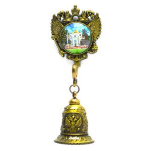 Колокольчик - магнит Екатерина 2,собор А. Невского и Памятник Казачеству (бронза) 57342