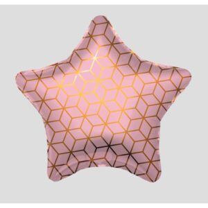 """Шар фольгированный 19"""" «Геометрия», звезда, 1 шт., в упаковке 56203"""