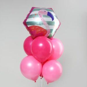 Букет из шаров «Розовый фламинго», фольга, латекс, набор 7 шт. 56150