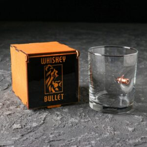 """Стакан """"Непробиваемый. Whiskey Bullet"""", с пулей, виски, 250 мл 55641"""