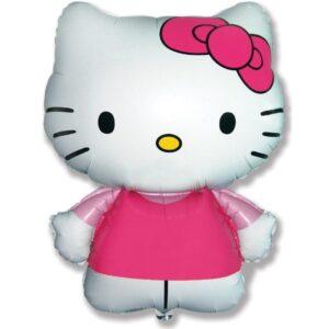 """Шар фольгированный 26"""" фигура """"Hello Kitty. Котенок с бантиком"""" розовый, 1шт. в упак. 5800581 56218"""