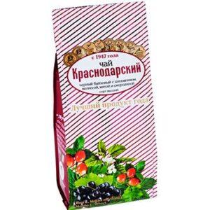 Чай черный байховый с шиповником, мелиссой, мятой и смородиной 100 г. Краснодарский 46679