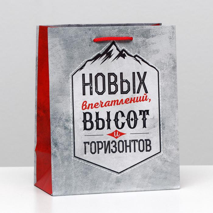 "Пакет подарочный ""Новых высот!"", 18 х 22,3 х 10 см 57150"