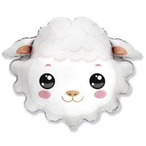 """Шар фольгированный 30"""" «Голова овечки», фигура 56224"""