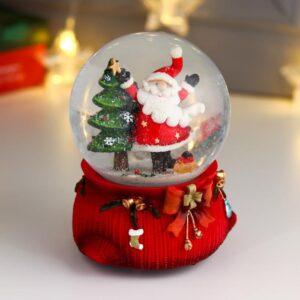 "Водяной шар музыка ""Дед Мороз танцует у ёлочки"" d=10 см 57714"