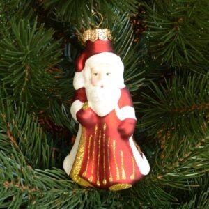 Игрушка на ёлку Дед Мороз (стекло) 51035