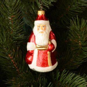 Игрушка на ёлку Дед Мороз (стекло) 51049