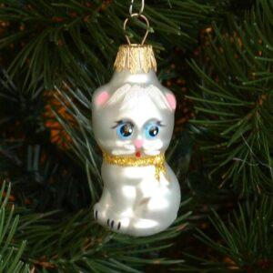Игрушка на ёлку Котик мини (стекло) 51109
