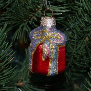 Игрушка на ёлку Подарочек (стекло) 51237