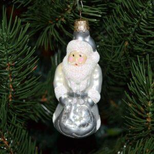 Игрушка на ёлку Дед Мороз (стекло) 51239
