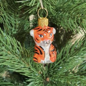 Игрушка на ёлку Тигр микро (стекло) 54188