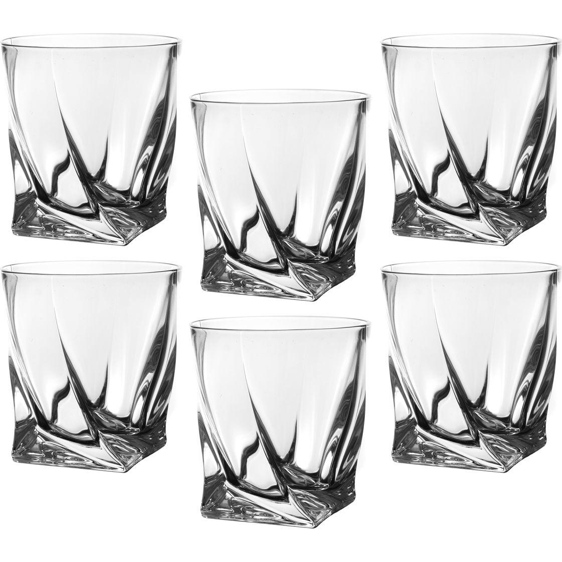 "Набор стаканов для виски из 6 шт. ""КВАДРО"" 340 мл. 48272"