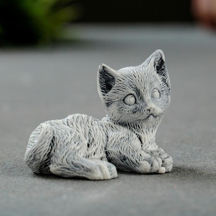 "Сувенир ""Котёнок лежащий"" 3,2см 56079"