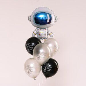 Букет из шаров «Космонавт», латекс, фольга, набор 6 шт. 56147