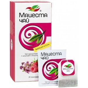 Чай черный байховый с душицей и ягодами малины 20 пакетиков 40 г. Мацеста 46710