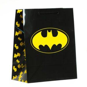Пакет подарочный Batman, 180х223х100 мм, цвет чёрный 57151