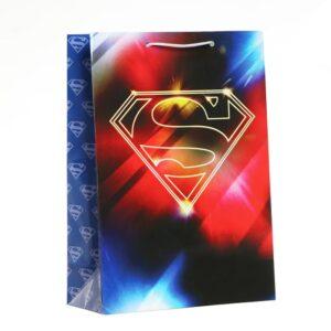 Пакет подарочный Superman, 220х310х100 мм 57152