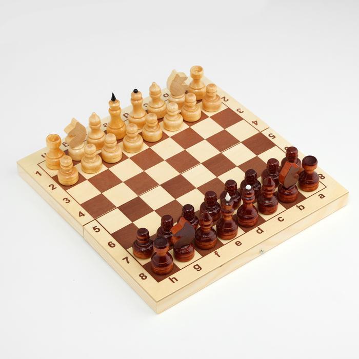 Шахматы обиходные, h=3.1-6.7 см, d=2.2-2.4 см  57164