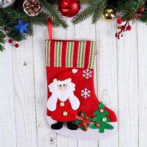 """Носок для подарков """"Дедушка Мороз у ёлочки"""" 51633"""