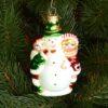 Игрушка на ёлку Дети со снеговиком (стекло) 51002