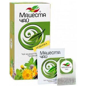 """Чай зеленый байховый """"Травяной"""" 20 пакетиков 40 г. Мацеста 46700"""