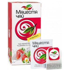 Чай черный байховый «Клубника со сливками» 40 г. Мацеста 46706