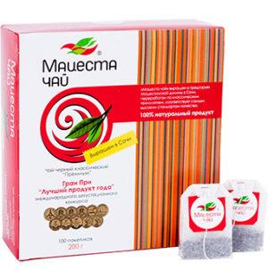 """Чай черный классический """"Премиум"""" 200 г. 100 пакетиков Мацеста 48098"""
