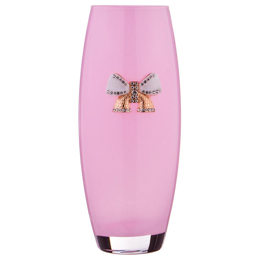 Ваза с бантиком розовая 49976