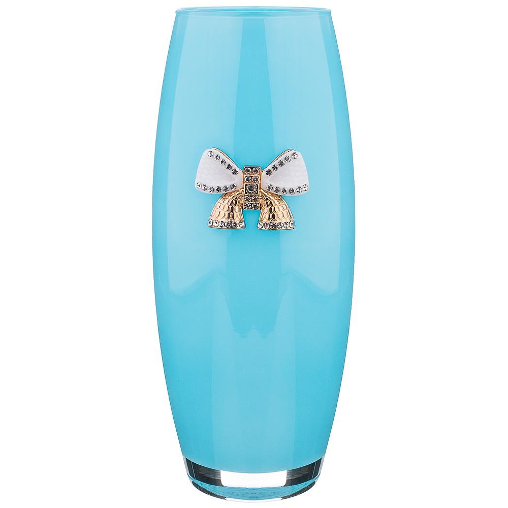 Ваза с бантиком голубая 49977