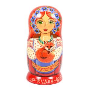 Матрешка-шкатулка Кубань 43651