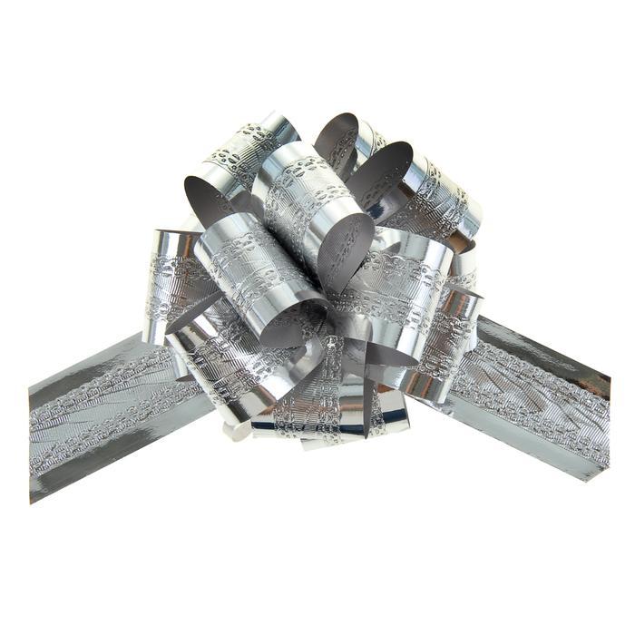 Бант-шар №3,2 полоса, серебро 57048