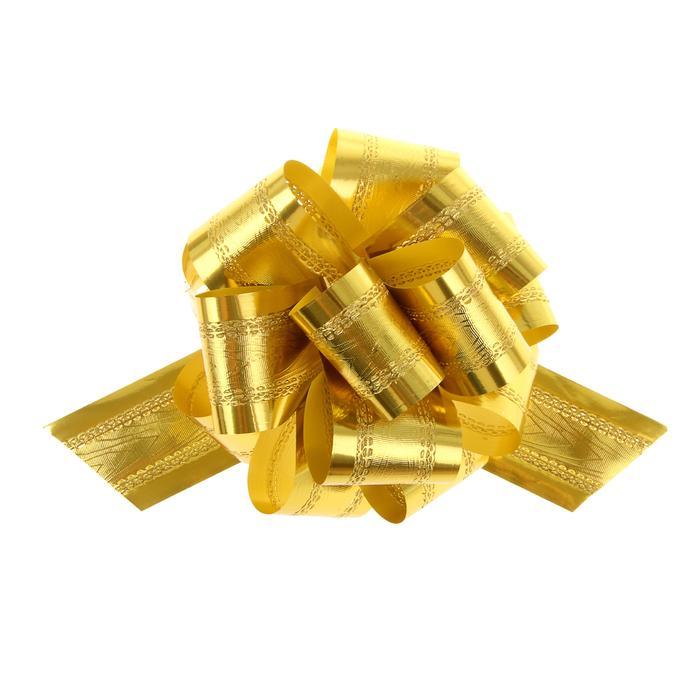 Бант-шар №5 полоса, золотой 57053
