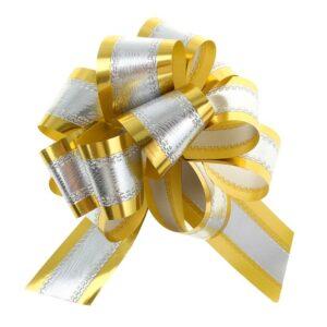 Бант-шар №5 серебро в золоте 57055