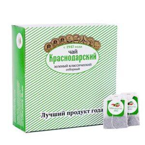 """Чай зеленый классический """"Отборный"""" 100 пакетиков Краснодарский 46671"""