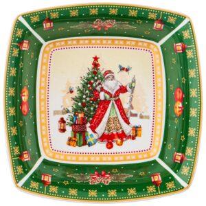 """Салатник lefard """"Дед мороз"""" квадратный 15,5х5см зеленый 57680"""