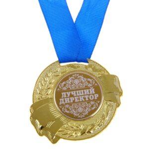 """Медаль """"Лучший директор"""" 5 см (металл) 13031"""