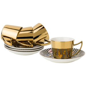 """Кофейный набор """"Butterfly"""" на 4 персоны 8 предметов 90 мл, золотой 55538"""