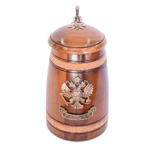 Кружка Россия с крышкой Герб 21586