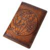 "Обложка на паспорт ""Карта полушарий"" 45543"