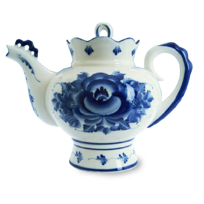 Чайник большой Подарочный (гжель) 57281