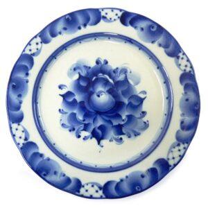 Тарелка мелкая закусочная Дубок (гжель) 48966