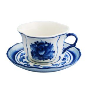 Чайная пара Лютик (гжель) 43217