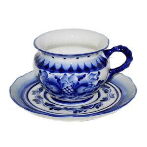 Чайная пара Гвоздика (гжель) 48978