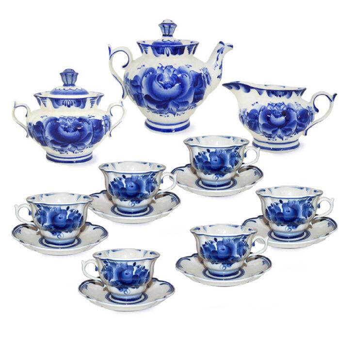 Сервиз чайный Орхидея (гжель) 57294