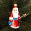 Игрушка на ёлку Дед Мороз со стразами (стекло) 53788