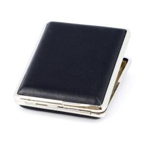 Портсигар S.Quire, сталь+искусственная кожа, черный цвет, гладкий 56429