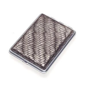 Портсигар S.Quire, сталь+искусственная кожа, бронзово-серый цвет 56443